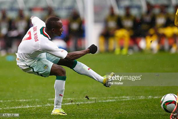 Ibrahima Wadji of Senegal scores a goal during the FIFA U20 World Cup Third Place Playoff match between Senegal and Mali at North Harbour Stadium on...
