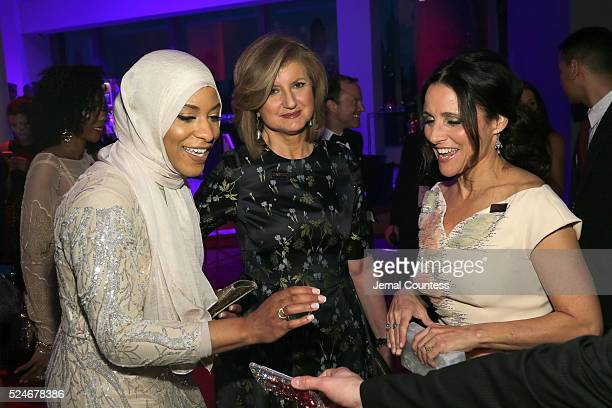 Ibtihaj Muhammad Arianna Huffington and Julia LouisDreyfus attend 2016 Time 100 Gala Time's Most Influential People In The World red carpet at Jazz...