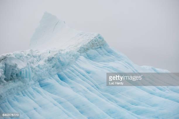 Ice against sky