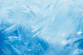 ice background with copy-space, blue frozen texture