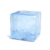 Ice block 3d rendering