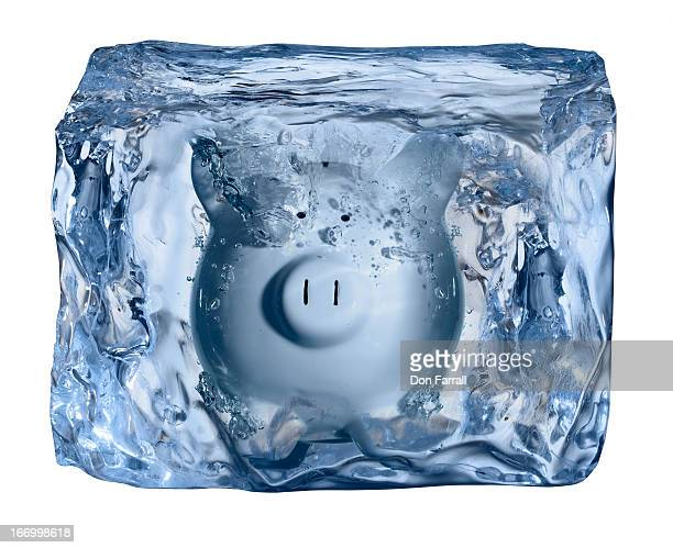 Ice Block, frozen piggy bank