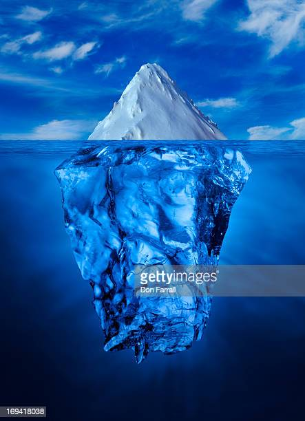 Ice Burg, above and below water line