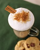 Ice Cafe Latte and Cookie, High Angle View, Differential Focus, Full Frame