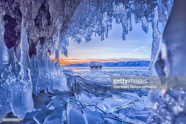 Ice Cave at Baikal Lake, Russia