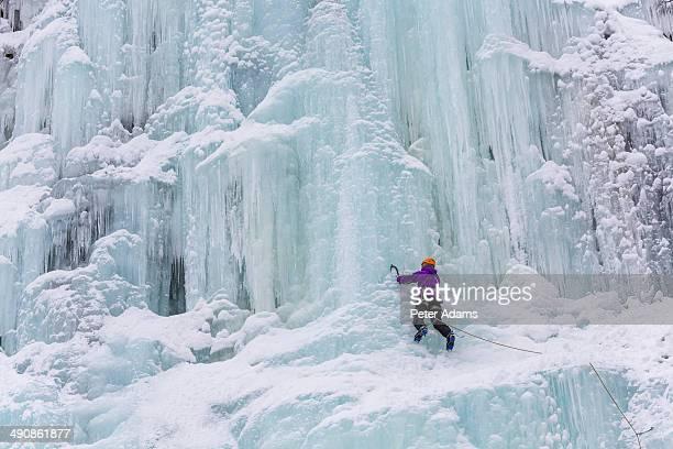 Ice climbers, Korouoma, Kuusamo, Lapland, Finland