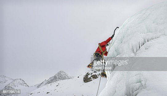 Ice climbing in the Austrian Alps