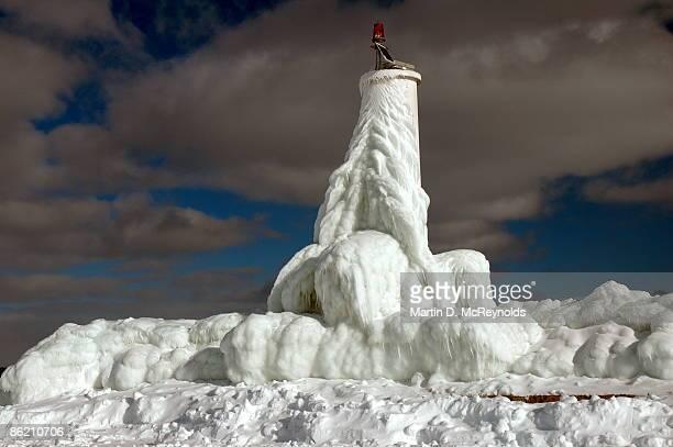 Ice coated beacon