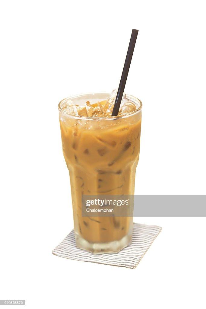 Ice coffee isolated : Stock Photo