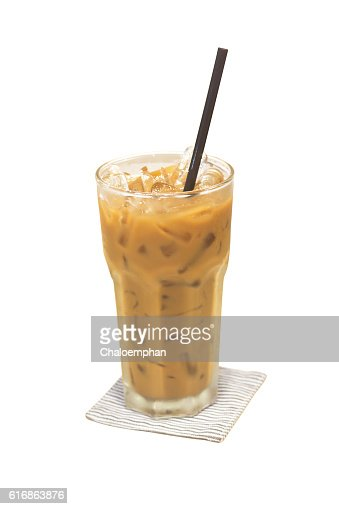 Ice coffee isolated : Stock Photo