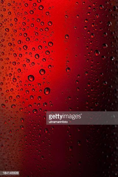 Botella de cerveza fría