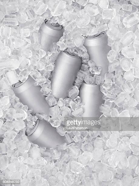 Bière glacée sur glace