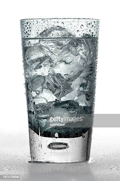 Ice cold glass of soda