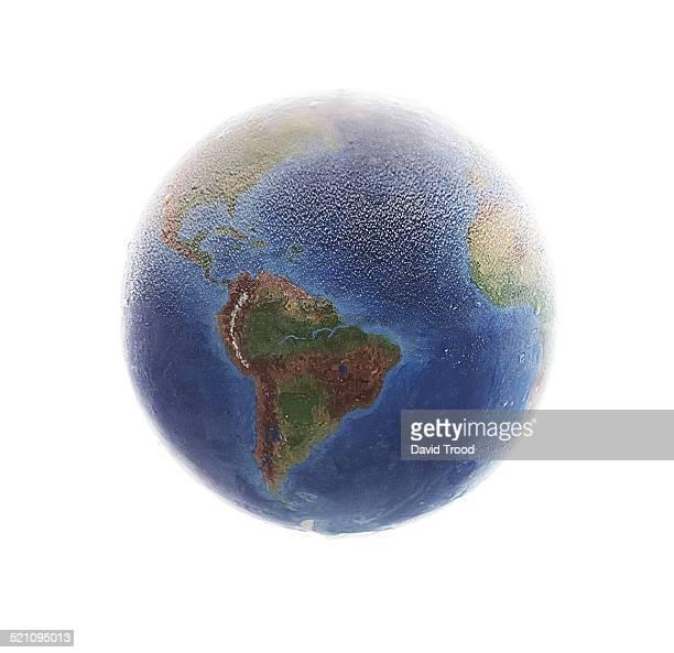 ice covered globe