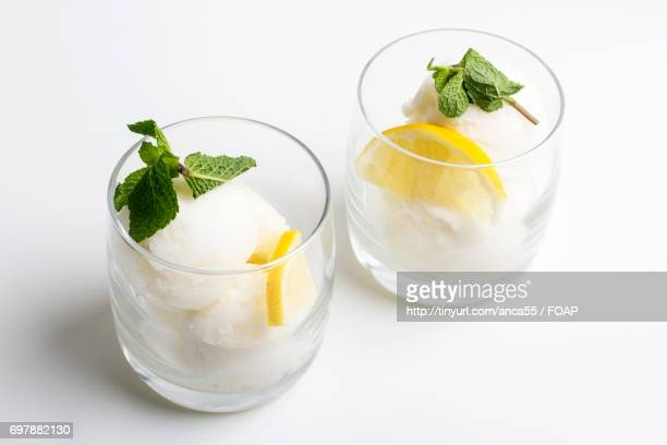 Ice cream in glass