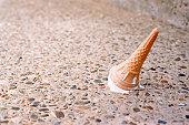 Ice cream on the floor