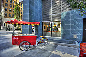a gelato cart / out in the urban jungle / without defenses