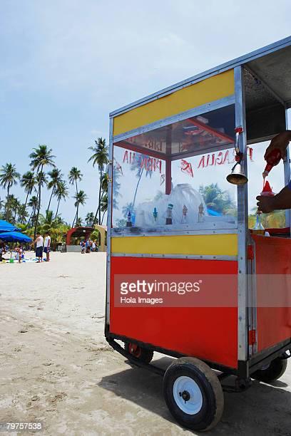 Ice cream stand on the beach, Luquillo Beach, Puerto Rico