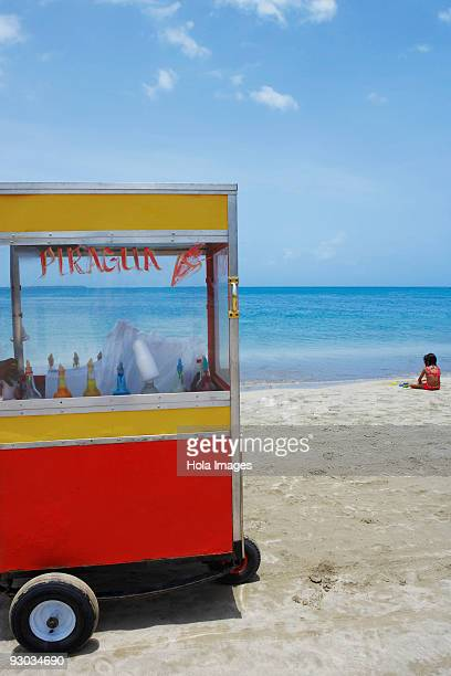 Ice cream stand on the beach, Luquillo Beach, Puerto Rico