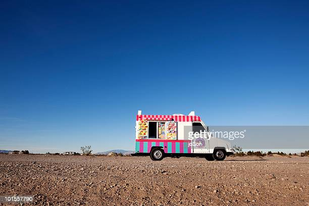 Ice cream truck parked in Nevada Desert