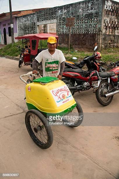 Ice cream vendor Iquitos Peru