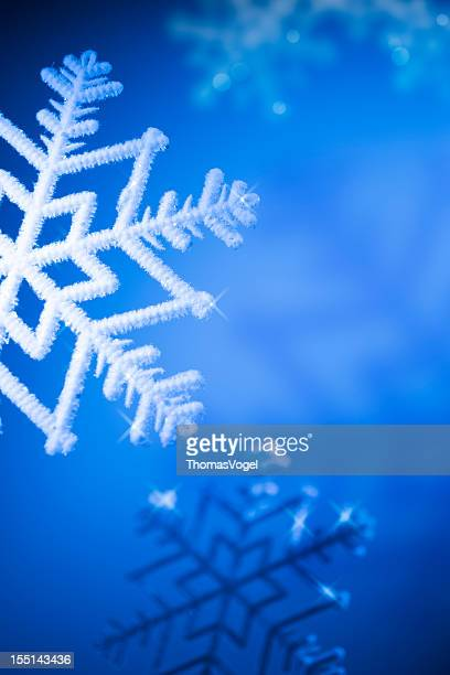 Ice Crystals - Winter Background
