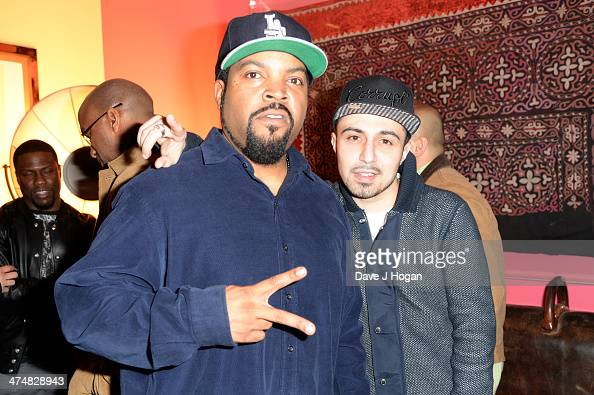 Ice Cube and Adam Deacon attend a special screening of 'Ride Along' at The Soho Hotel on February 25 2014 in London England