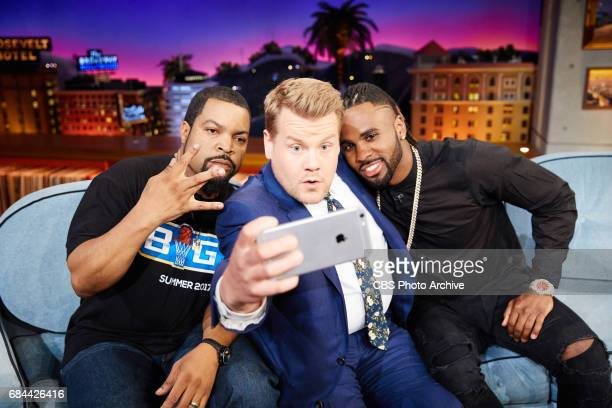Ice Cube and Jason Derulo chat with James Corden during 'The Late Late Show with James Corden' Tuesday May 16 2017 On The CBS Television Network