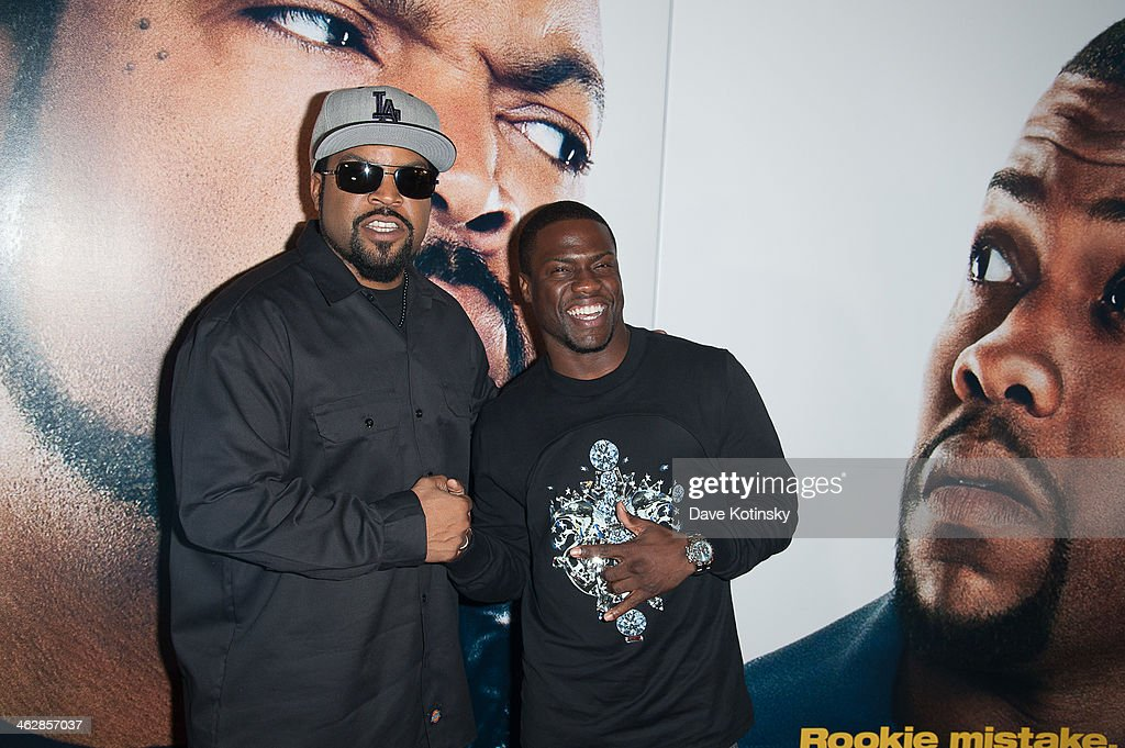 Ice Cube (L) and Kevin Hart attend the 'Ride Along' screening>> at AMC Loews Lincoln Square on January 15, 2014 in New York City.