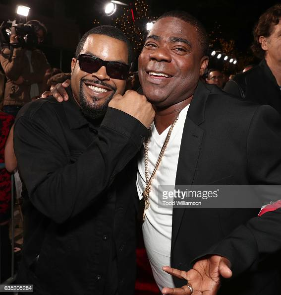 Ice Cube and Tracy Morgan attend the premiere of Warner Bros Pictures' 'Fist Fight' at Regency Village Theatre on February 13 2017 in Westwood...