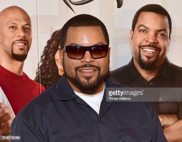 Ice Cube attends 'Barbershop The Next Cut' Atlanta premiere at Regal Atlantic Station on March 17 2016 in Atlanta Georgia