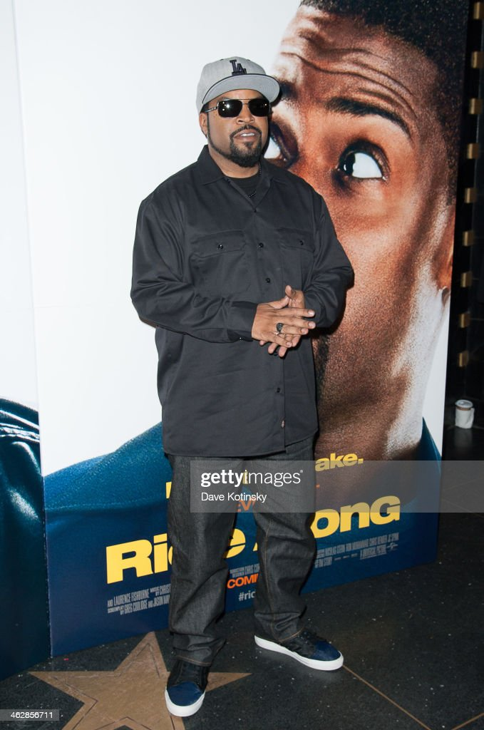 Ice Cube attends the 'Ride Along' screening at AMC Loews Lincoln Square on January 15, 2014 in New York City.