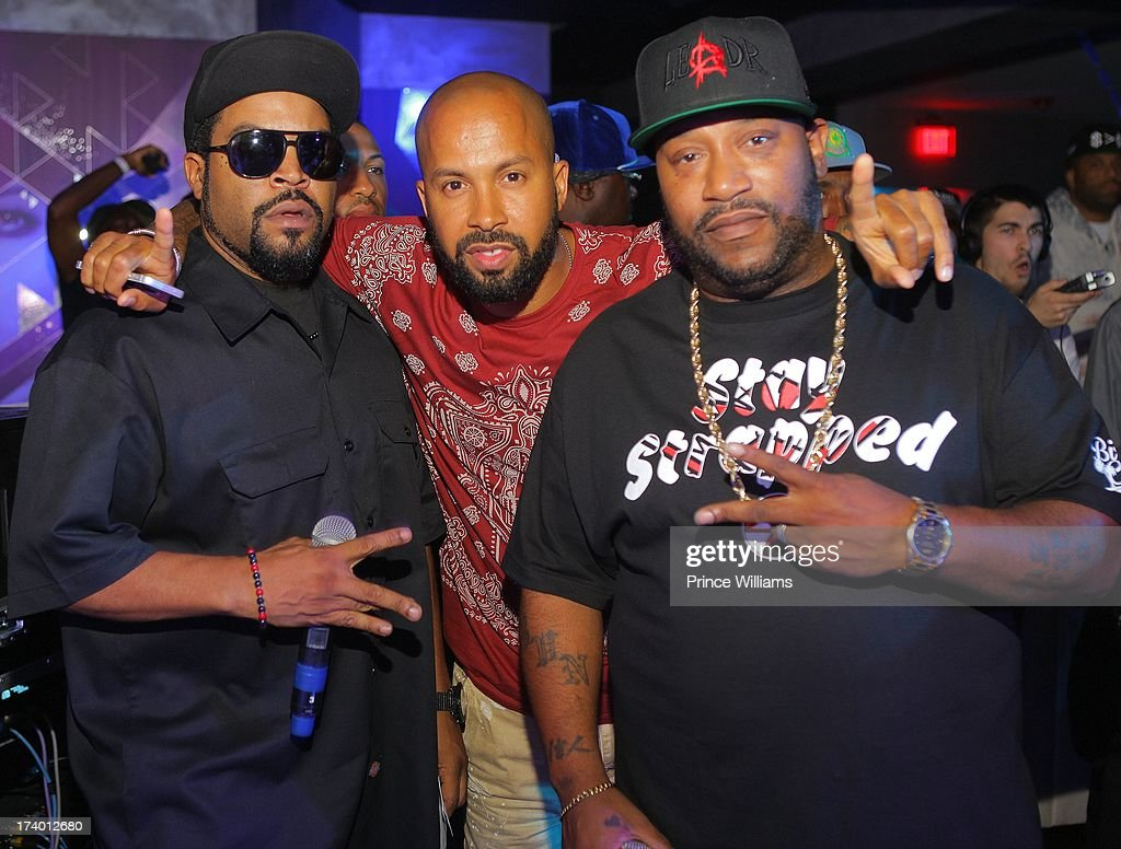 Ice Cube, Kenny Burns and <a gi-track='captionPersonalityLinkClicked' href=/galleries/search?phrase=Bun+B&family=editorial&specificpeople=870664 ng-click='$event.stopPropagation()'>Bun B</a> attend Coors Light 'Search For The Coldest' MC With Special Guest Big Sean at Prive on July 18, 2013 in Atlanta, Georgia.