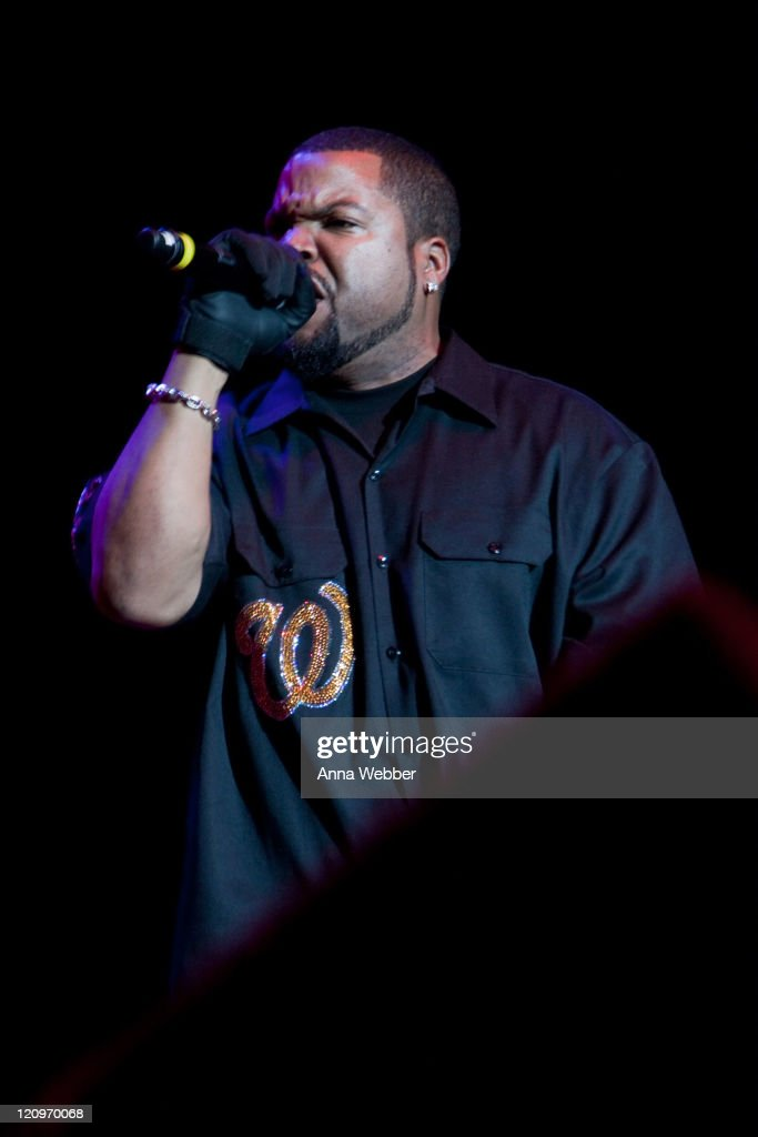 Ice Cube performs at 'Rock The Bells' at the San Manuel Amphitheater on August 8 2009 in San Bernardino California