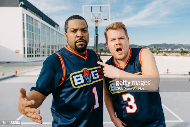 Ice Cube performs Badly Dubbed Three Point Shots with James Corden during 'The Late Late Show with James Corden' Monday February 13 2017 On The CBS...