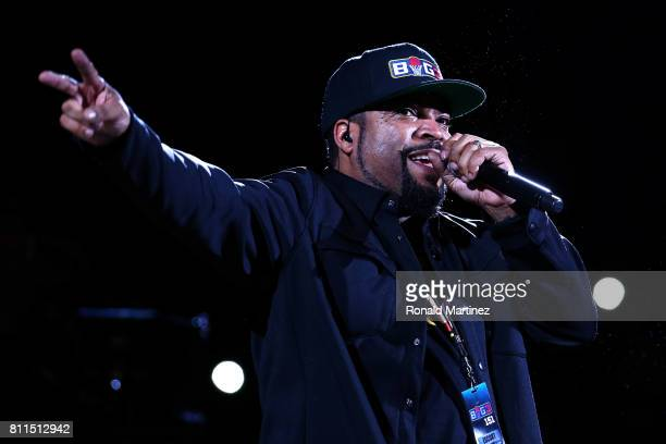 Ice Cube performs during week three of the BIG3 three on three basketball league at BOK Center on July 9 2017 in Tulsa Oklahoma