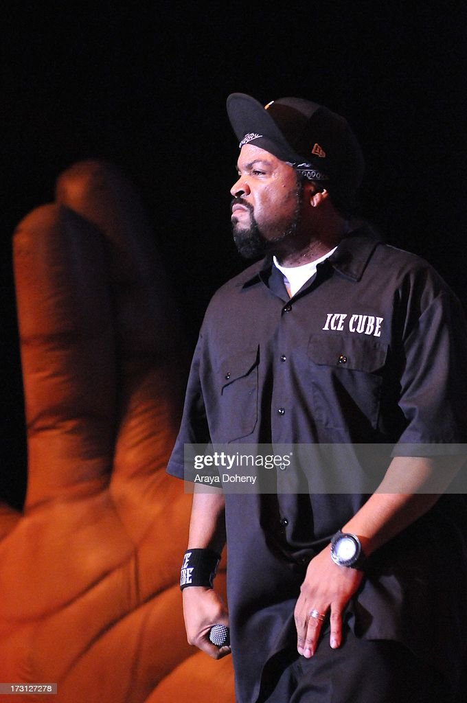 Ice Cube performs on stage at the Kings of the Mic Tour with special guests LL Cool J, Ice Cube, Public Enemy and De La Soul at The Greek Theatre on July 7, 2013 in Los Angeles, California.