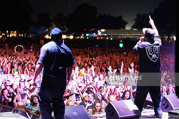 Ice Cube performs onstage at The Which Tent during day 2 of the 2014 Bonnaroo Arts And Music Festival on June 13 2014 in Manchester Tennessee