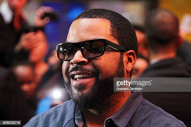 Ice Cube smiles as he arrives ahead of the Ride Along 2 Australian Premiere at Hoyts Melbourne Central on February 10 2016 in Melbourne Australia
