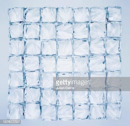 Ice cube wall