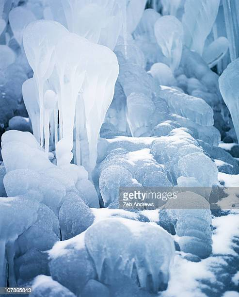 Ice formations at Elowah Falls