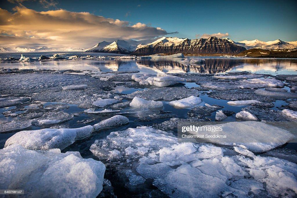 Ice Glaciers in Jokulsarlon Lagoon