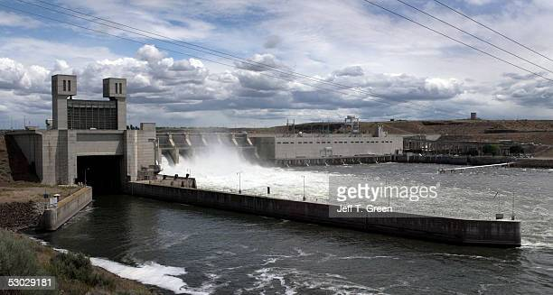 Ice Harbor Lock and Dam on the lower Snake River is seen June 6 2005 near Burbank Washington In late May 2005 a federal judge in Portland Oregon...