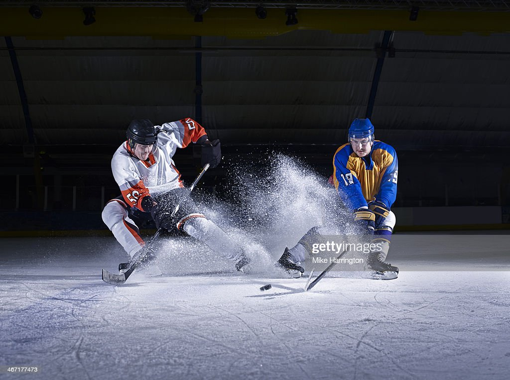 Ice Hockey Challenge between two male players