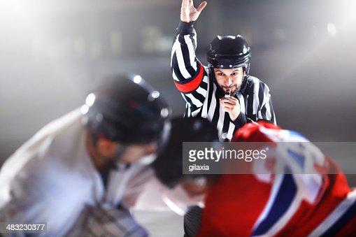 Ice hockey fight.