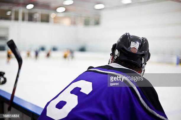 Ice hockey game action shot