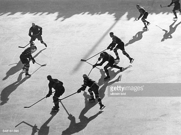 ice hockey game due to the Winter Olympics 1936