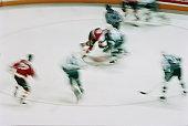 Ice hockey game (blurred motion)