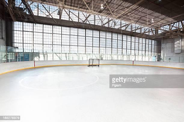 Joueur de hockey sur glace net dans l'arena