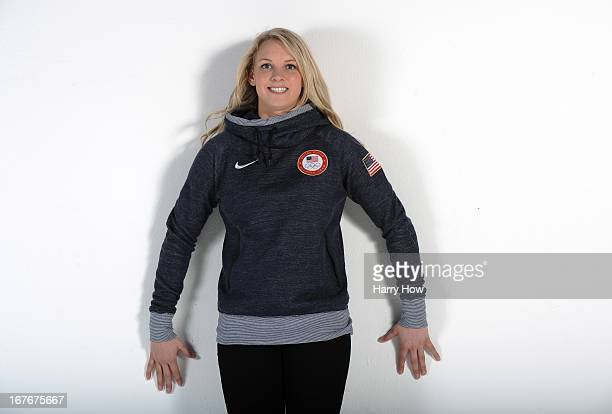 Ice hockey player Amanda Kessel poses for a portrait during the USOC Portrait Shoot on April 27 2013 in West Hollywood California